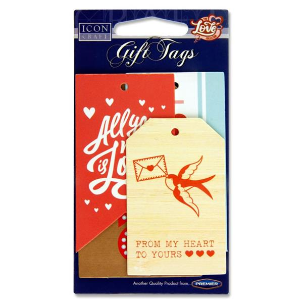 Icon Craft Card 6 Gift Tags - Love