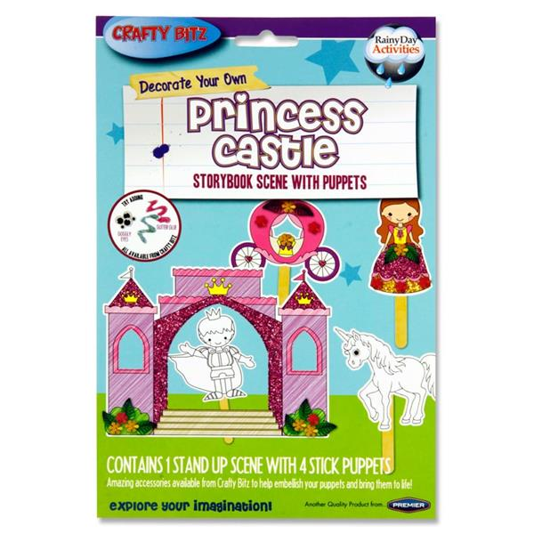 Crafty Bitz Storybook Scene With Puppets - Princess Castle