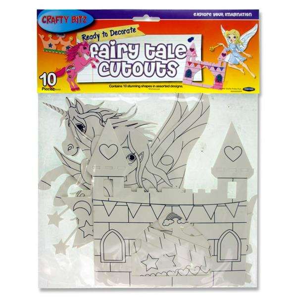 Crafty Bitz Pack of 10 Ready To Decorate Fairy Tale Cutouts