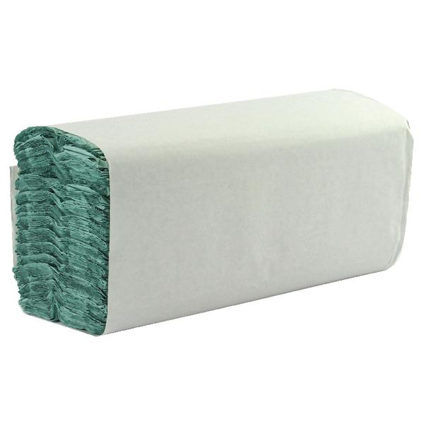 1-Ply Green C-Fold Hand Towels (Pack of 2850) WX43094