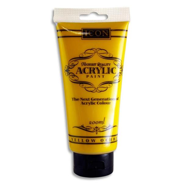 Icon Acrylic Paint 200Ml - Yellow Ochre