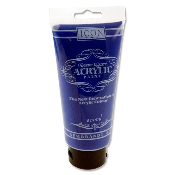 Icon Acrylic Paint 200Ml - Rembrandt Blue
