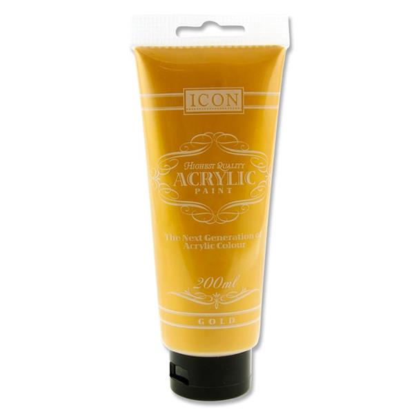 Icon Acrylic Paint 200Ml - Gold