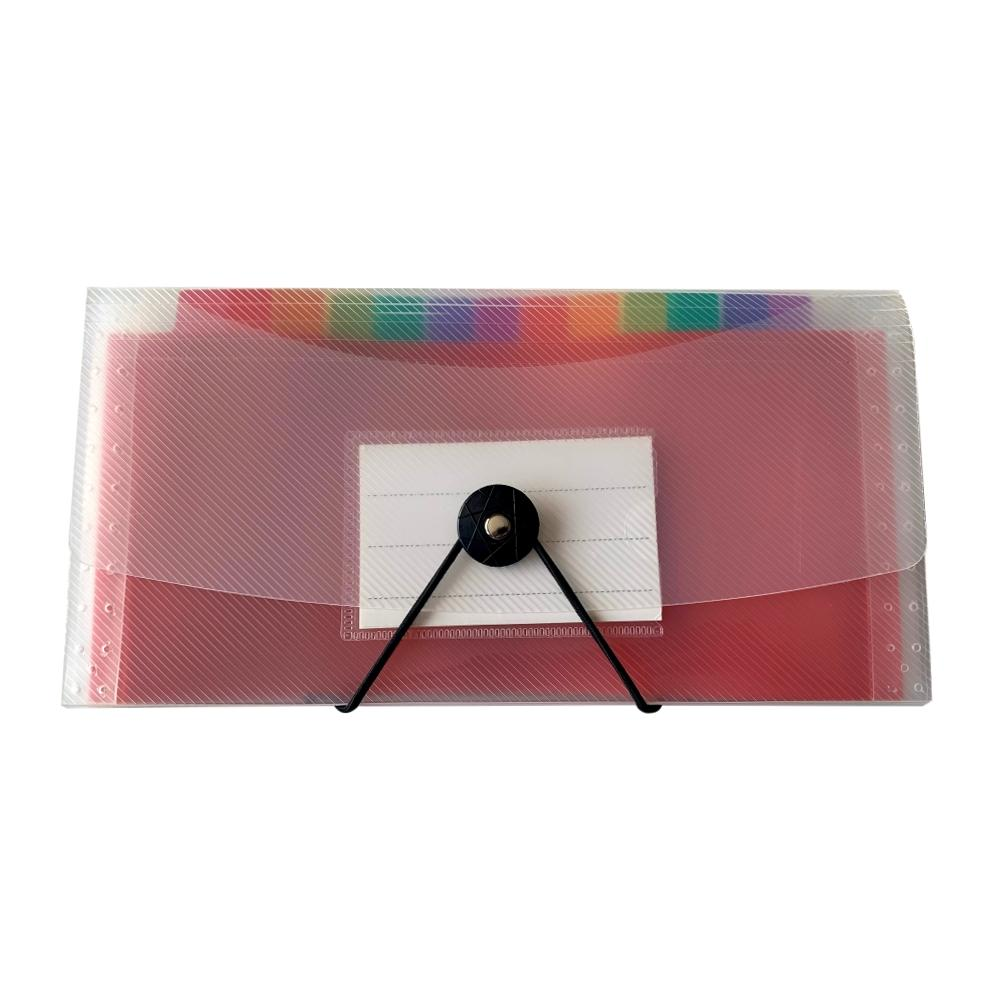 13 Part DL Rainbow Coloured Tabs Expanding File with Elastic Closure
