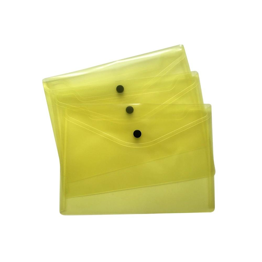 Pack of 12 A5 Yellow Document Wallets by Janrax