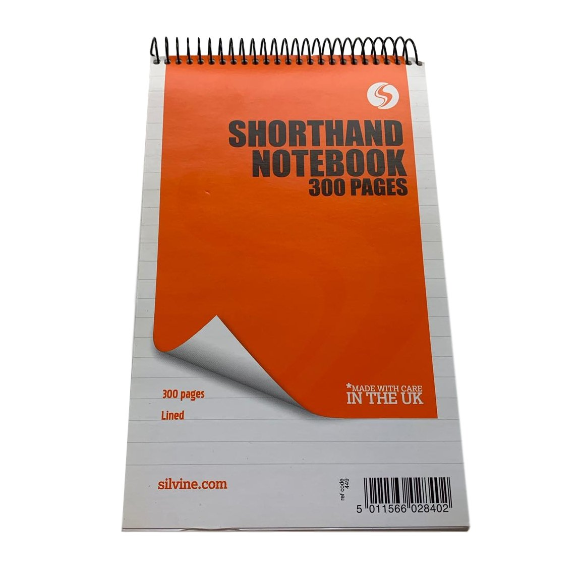 Silvine 300 Page Spiral Bound Shorthand Notebook Ruled