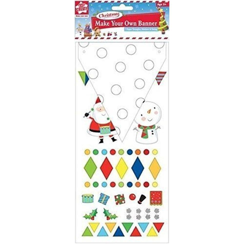 Make Your Own Christmas Banner Bunting Decoration