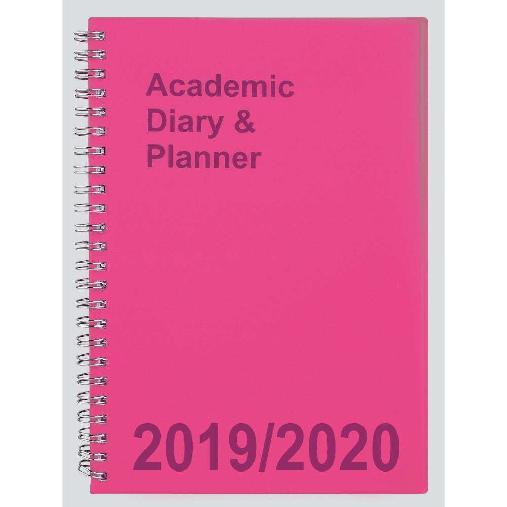 2019-20 A5 Week to View Academic Diary - Pink