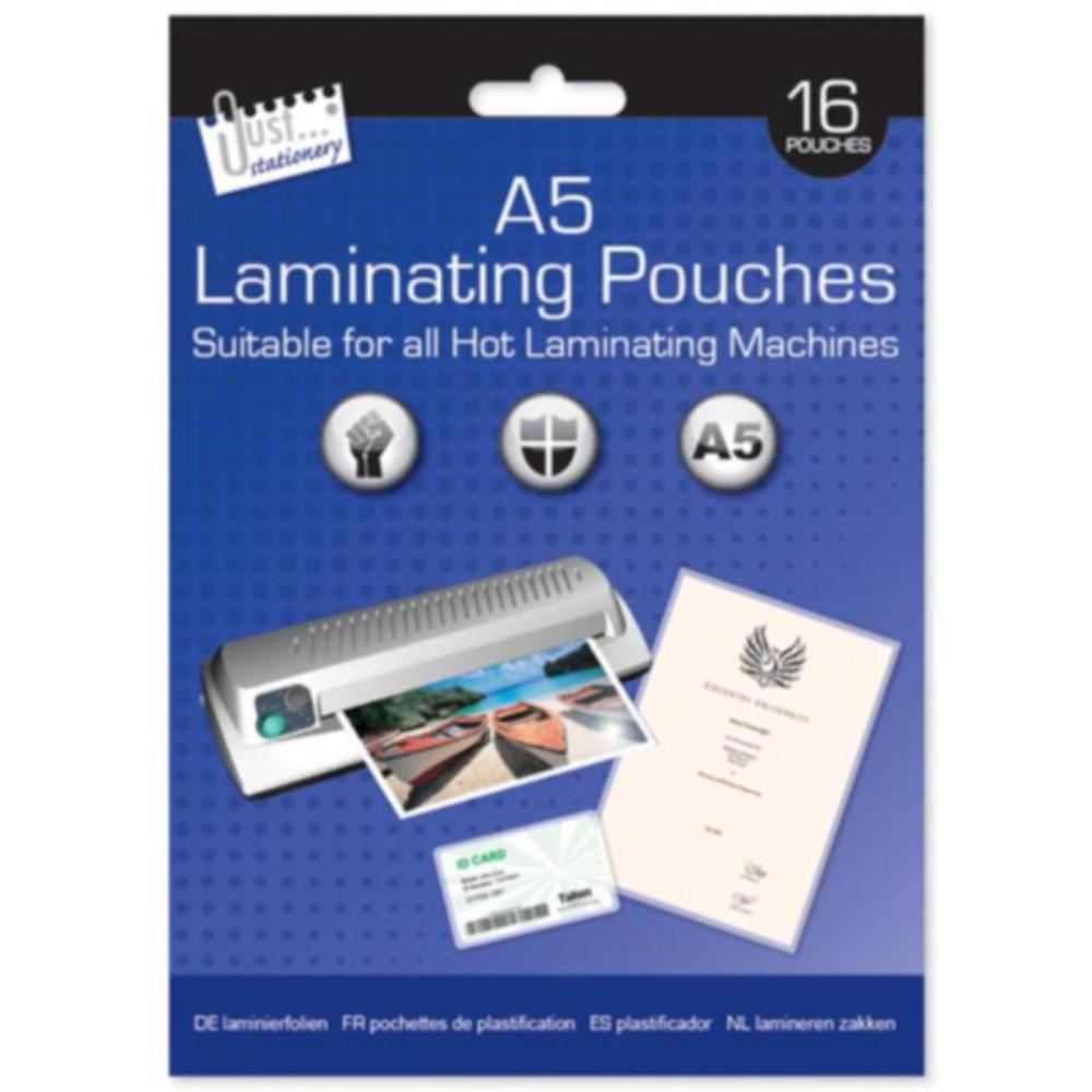 Pack of 16 A5 laminating Pouches