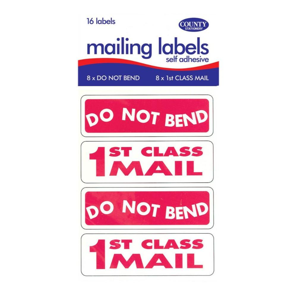 First Class/Do Not Bend Labels