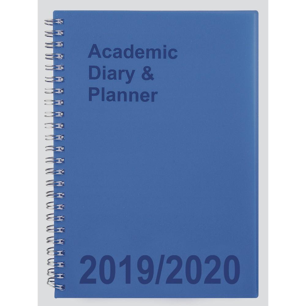 2019-20 A5 Week to View Academic Diary - Blue