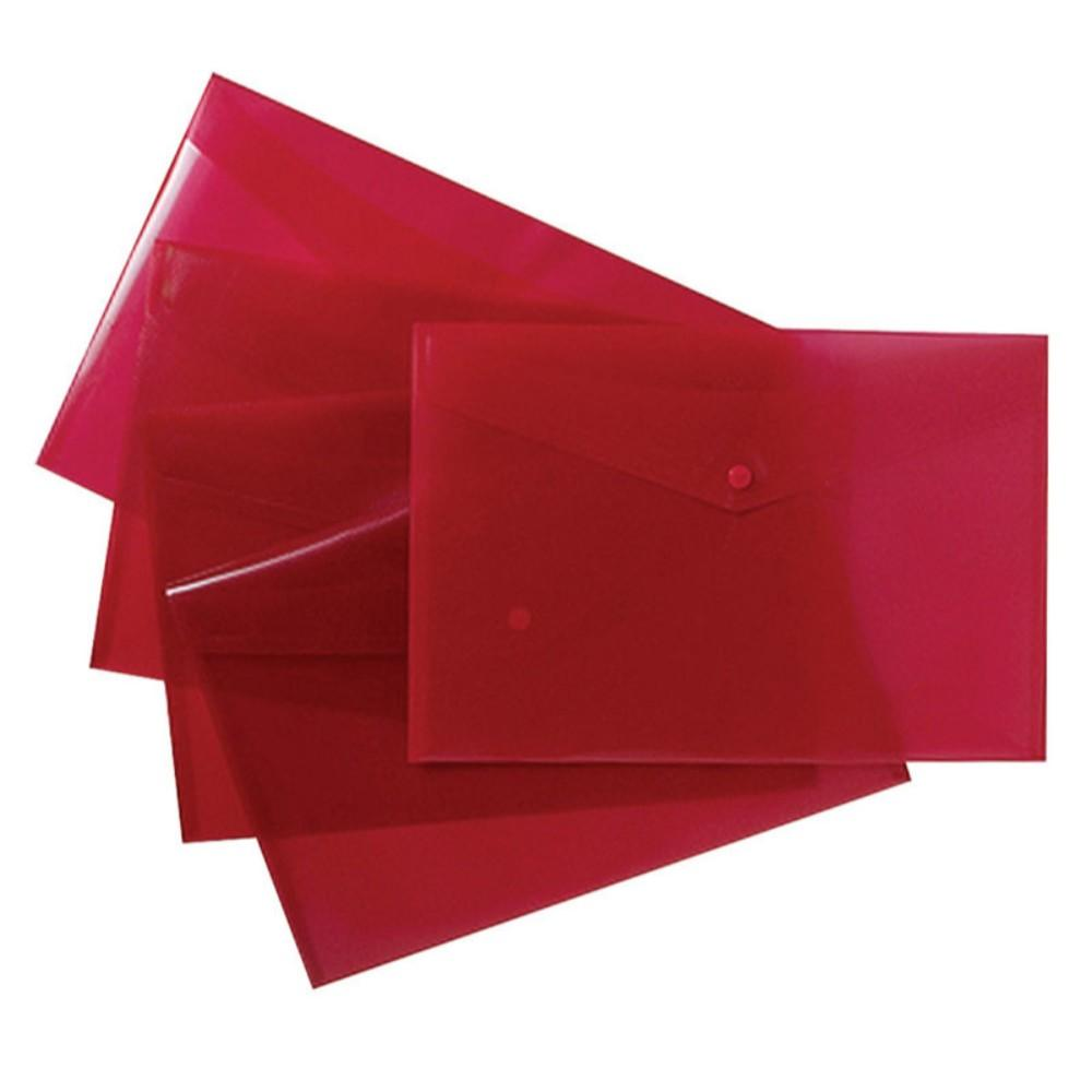 Pack of 25 Red A4+ Foolscap Stud Document Wallets