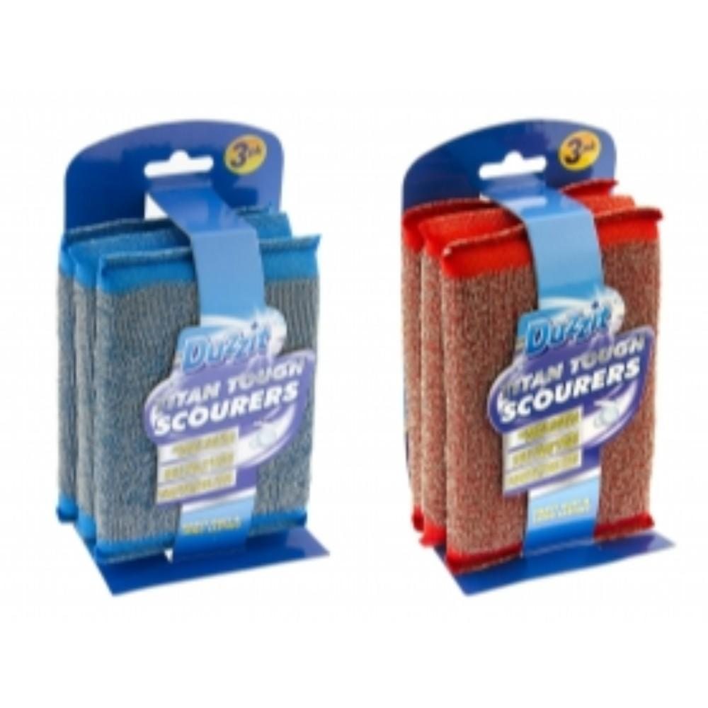 Pack of 3 Duzzit Titan Steel Scourer