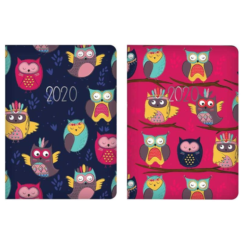 2020 Week to View Pocket Diary - Owls Design