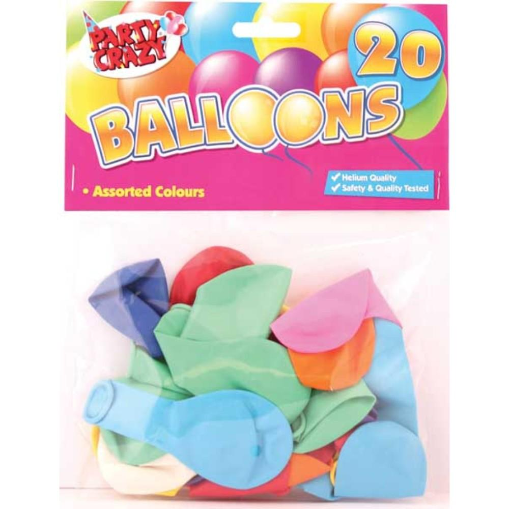 20 Assorted shape Balloons