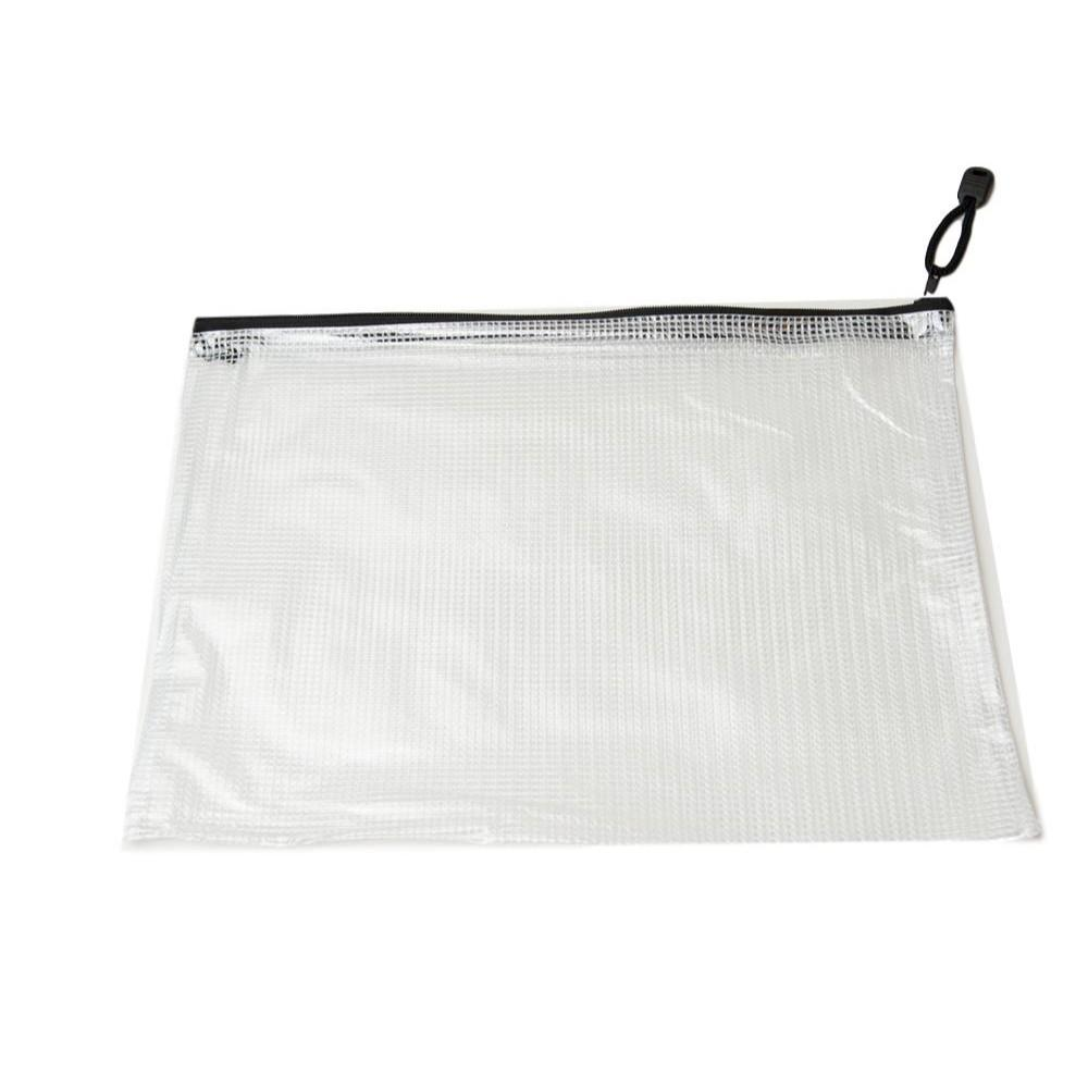 Pack of 12 A5 Black Zip Strong Mesh Bags - Tough Waterproof Storage