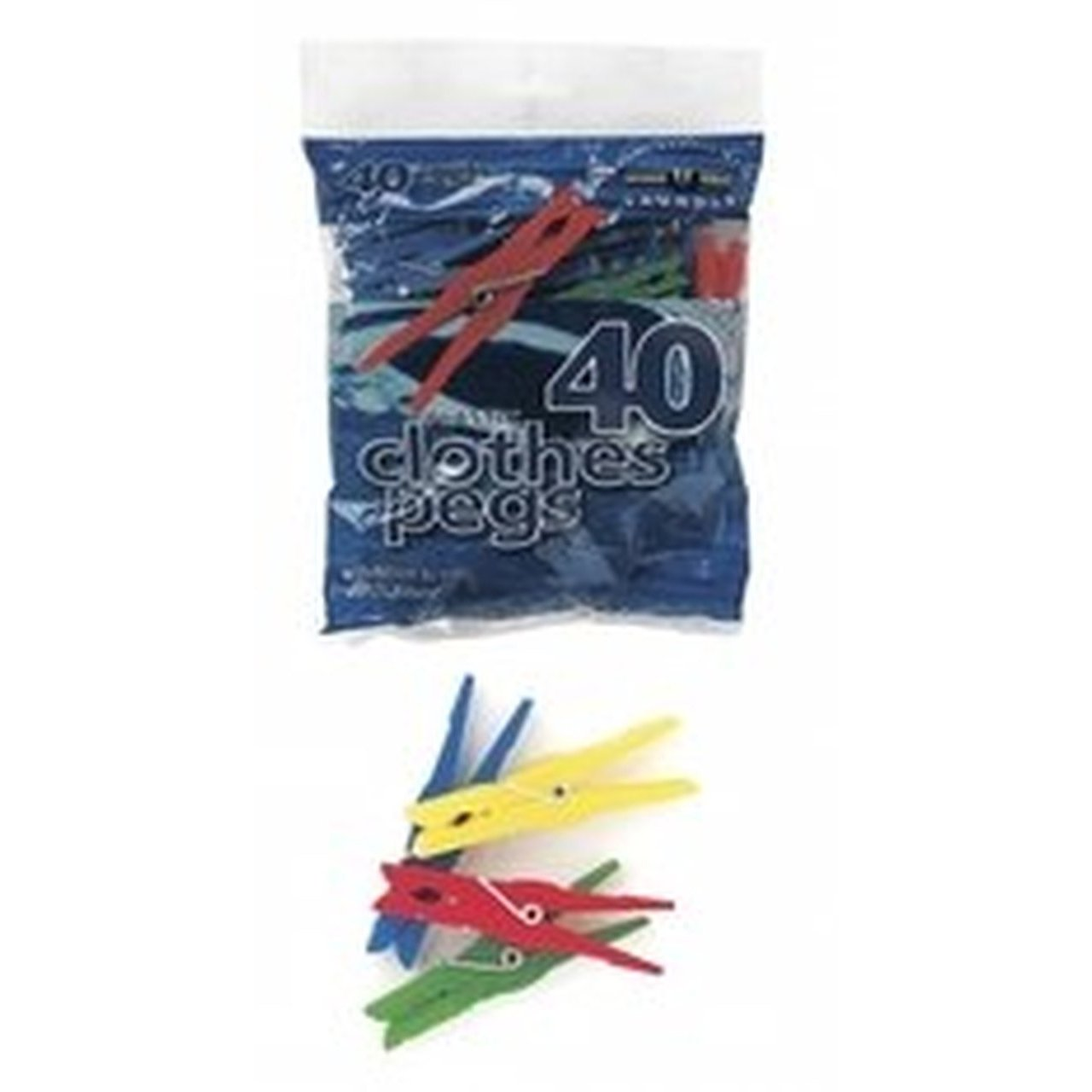 Plastic Clothes Pegs (40 Pack)