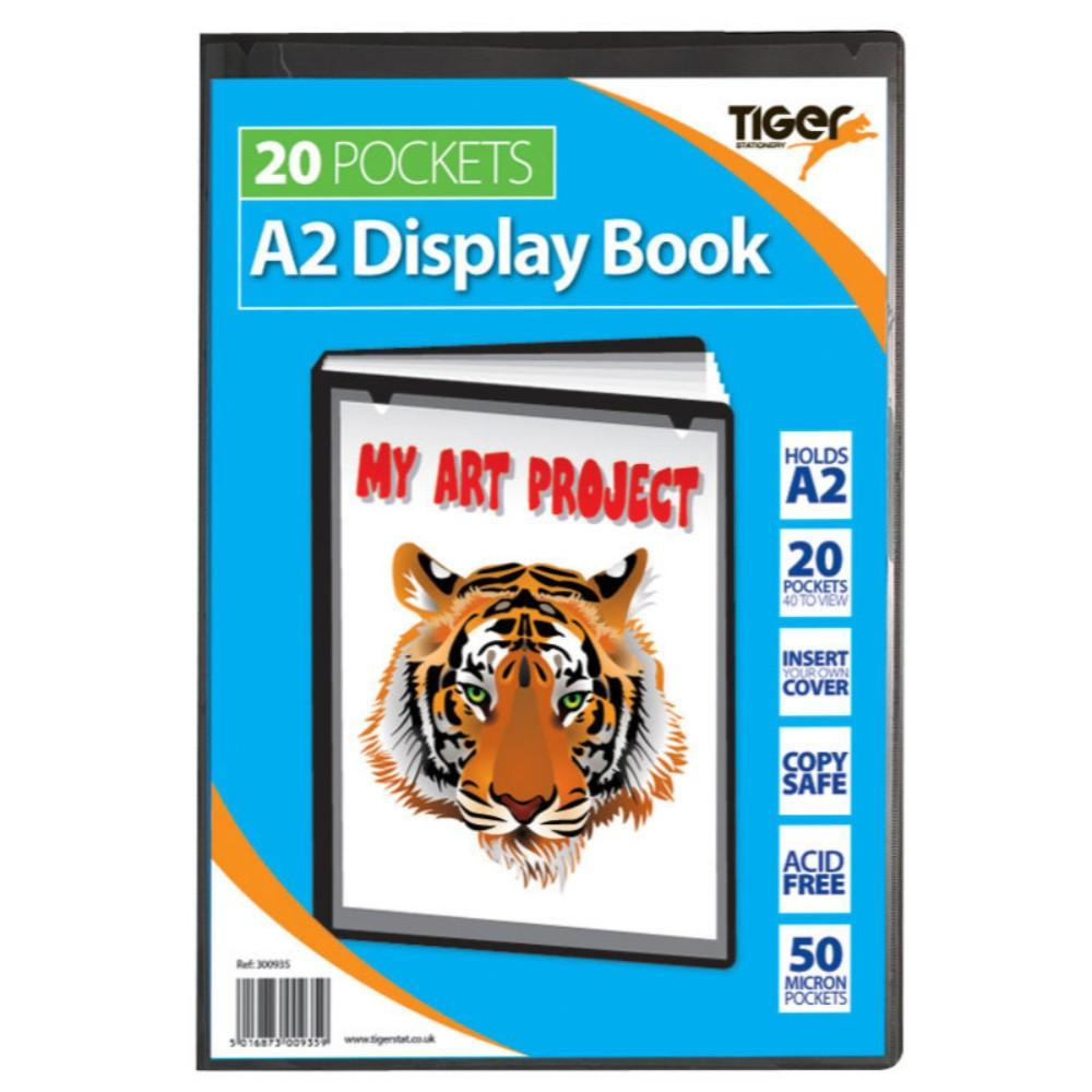 Tiger A2 20 Pocket Presentation Display Book