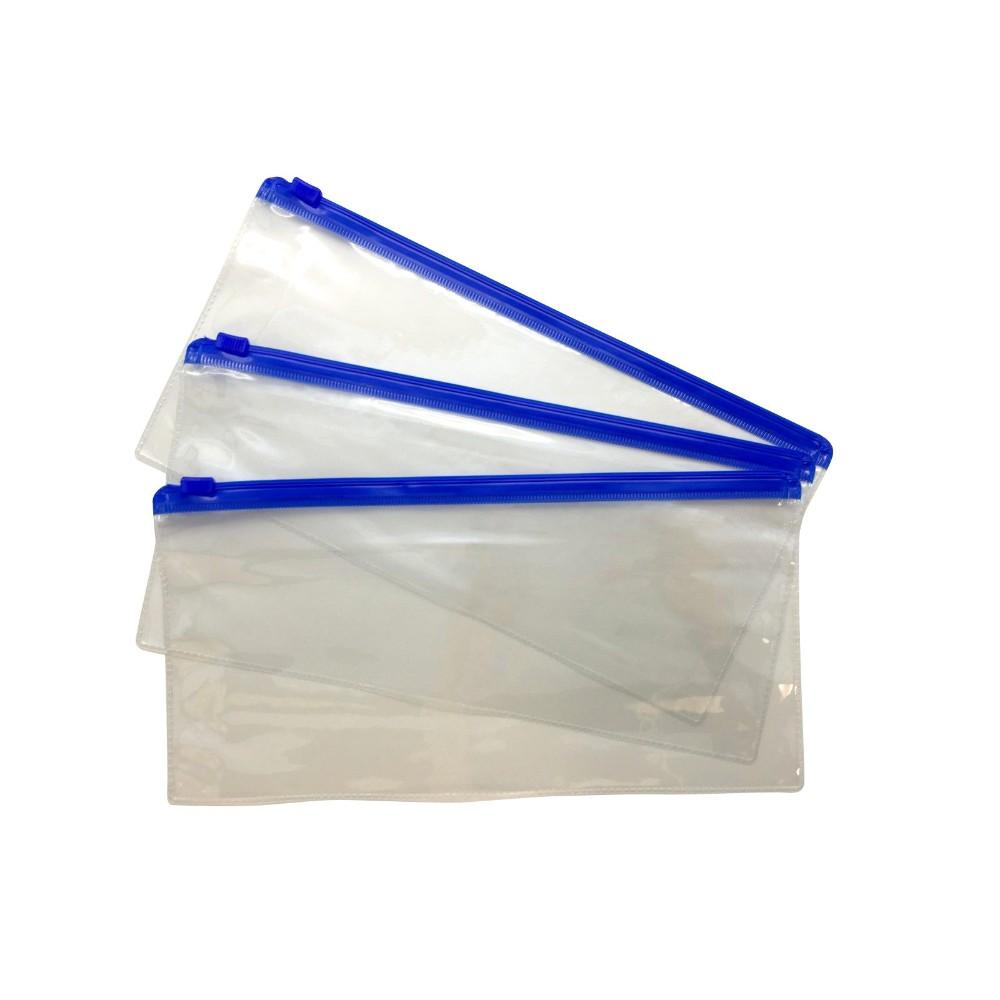 Pack of 12 DL Blue Zip Zippy Bags