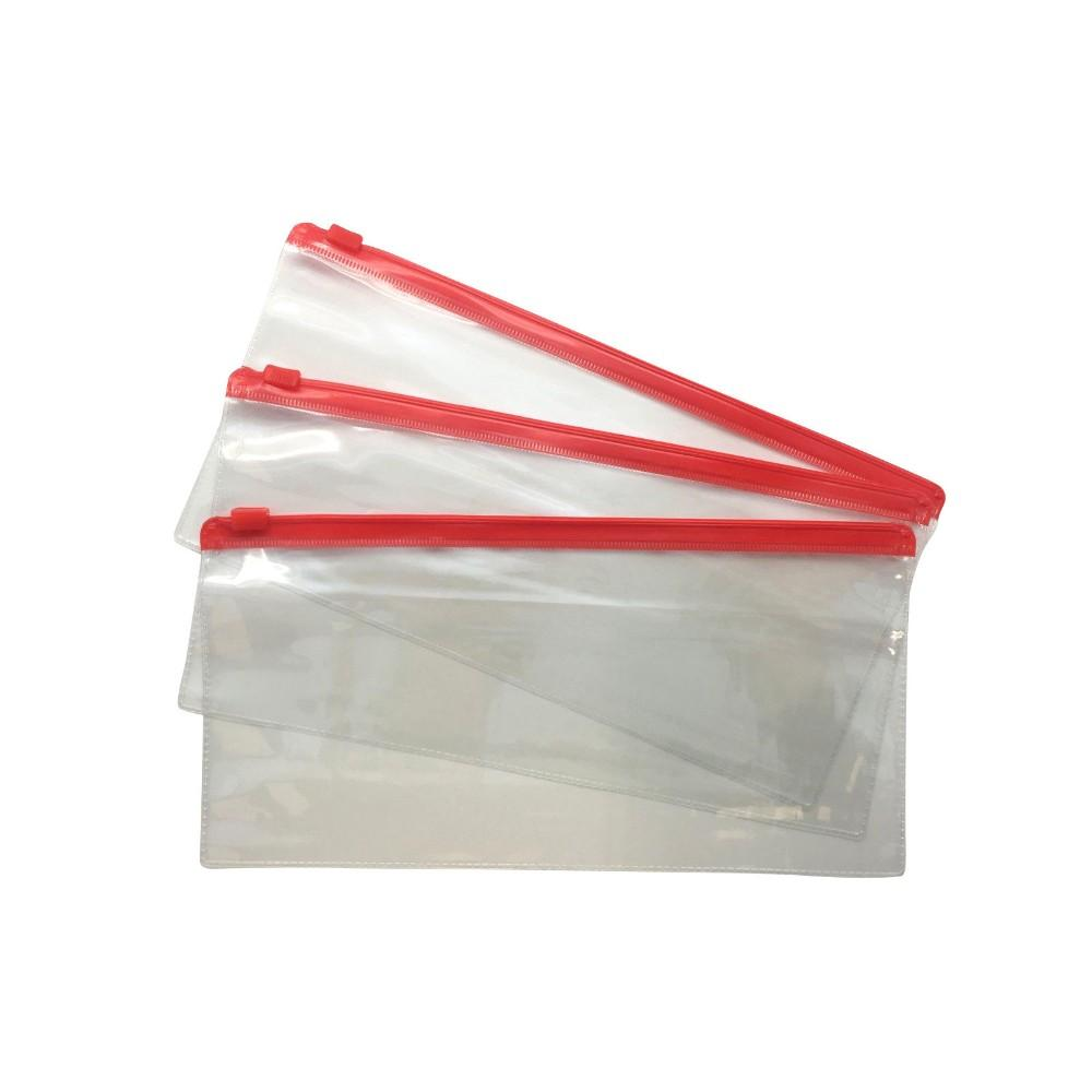 Pack of 12 DL Red Zip Zippy Bags