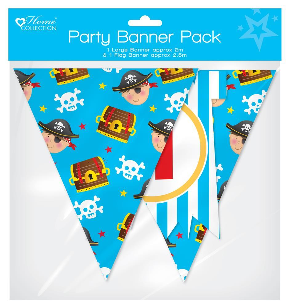 Pirate Design Banner and Flag Banner Pack - Pirate Party