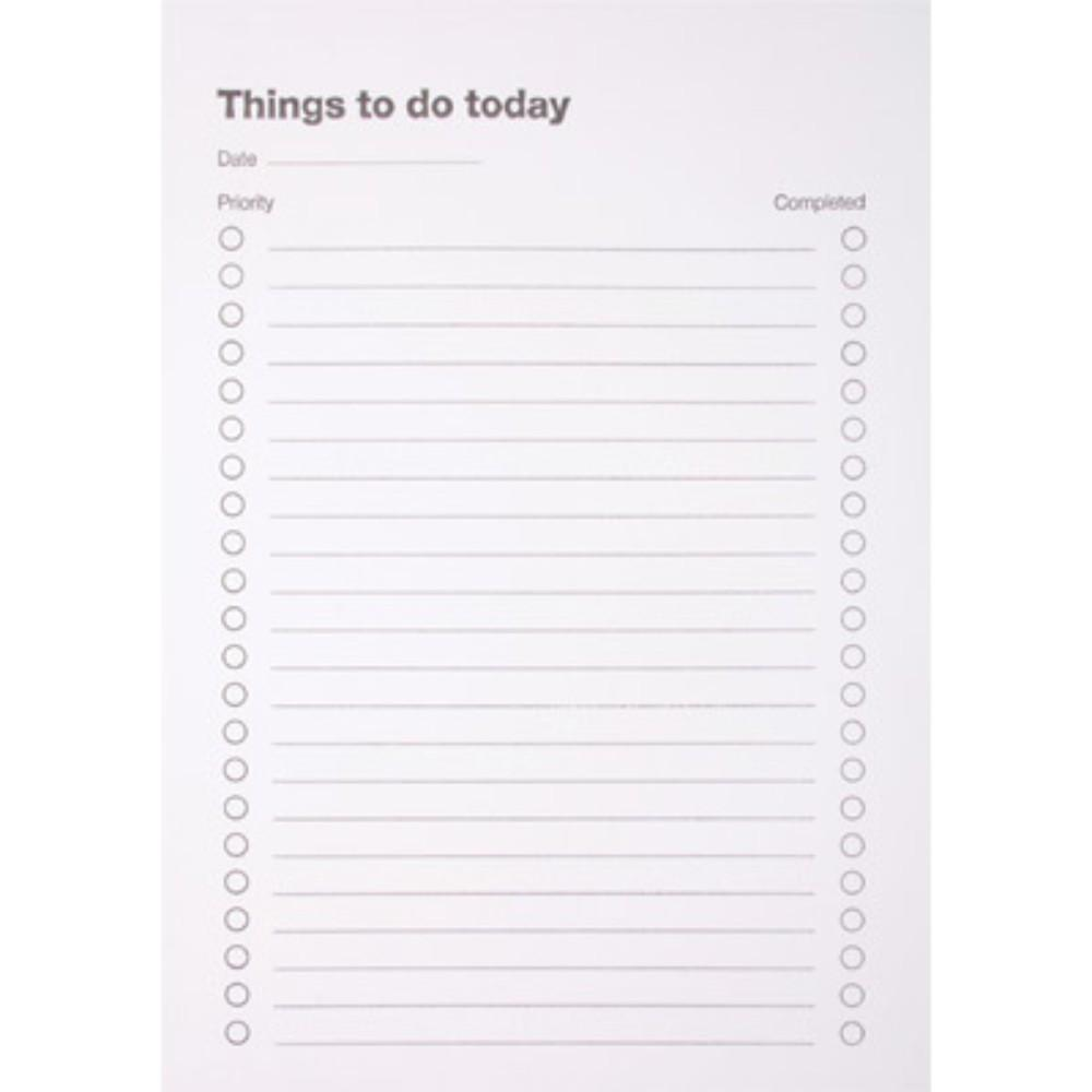 To Do Today Pad