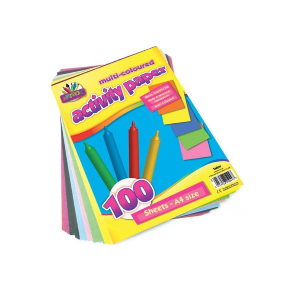 Pack of 100 Sheet of Artbox A4 Activity Paper - Assorted