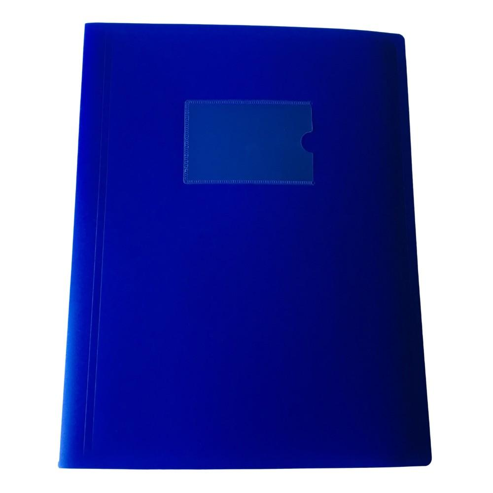 A4 Blue Flexible Cover 20 Pocket Display Book