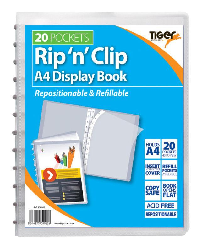 A4 Rip 'n' Clip Display Books