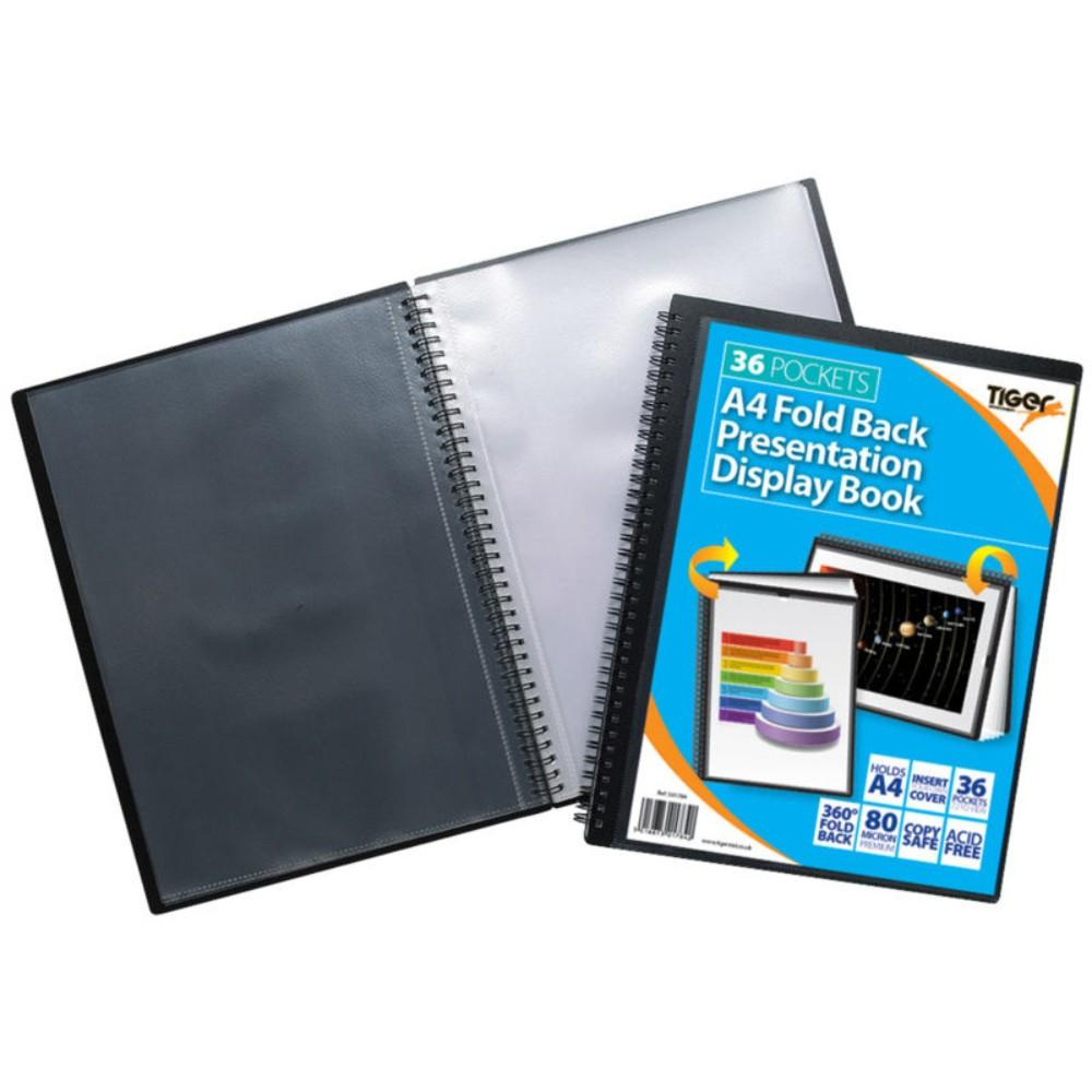 A4 36 Pocket Foldback Presentation Display Book