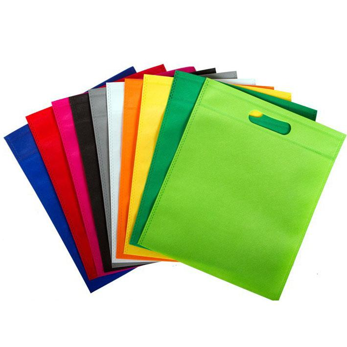 Green Coloured 30x25cm Non Woven Bag with Carry Handles- Party Treat Goodie Gift Bag