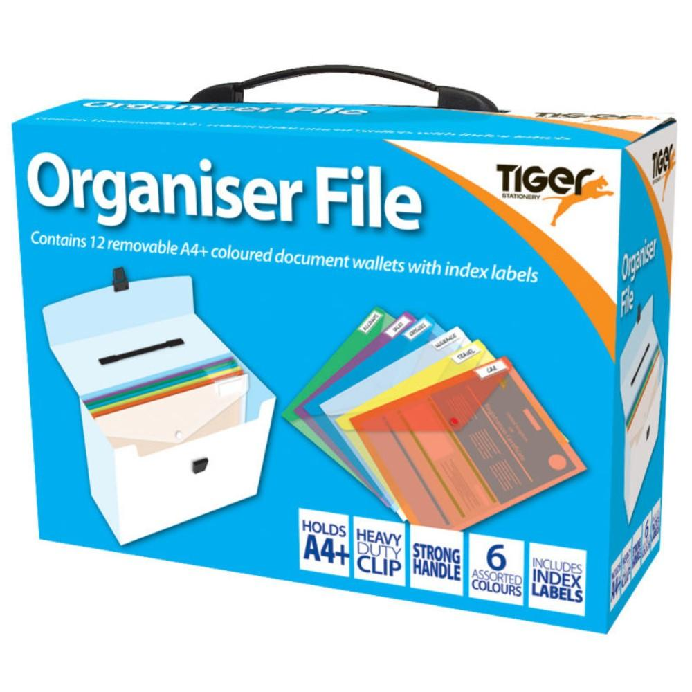Tiger A4 12 Part Organiser File