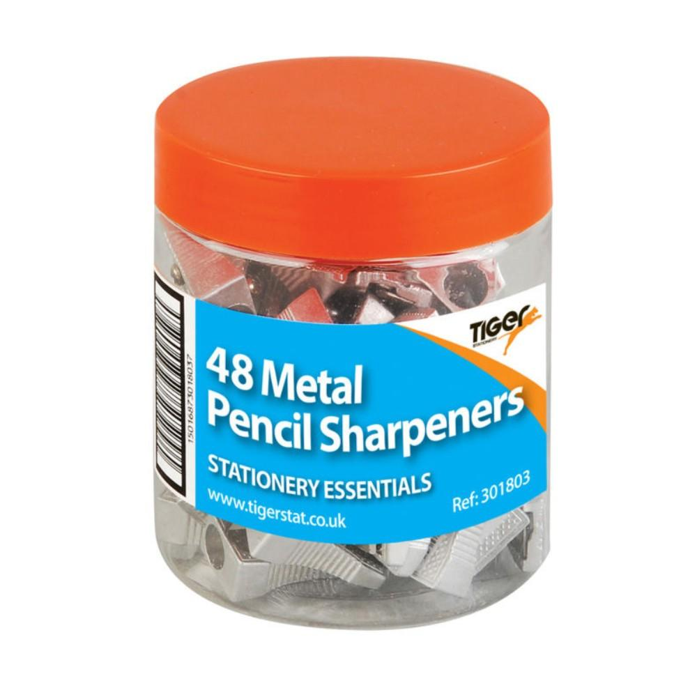 48 x Metal One Hole Pencil Sharpeners