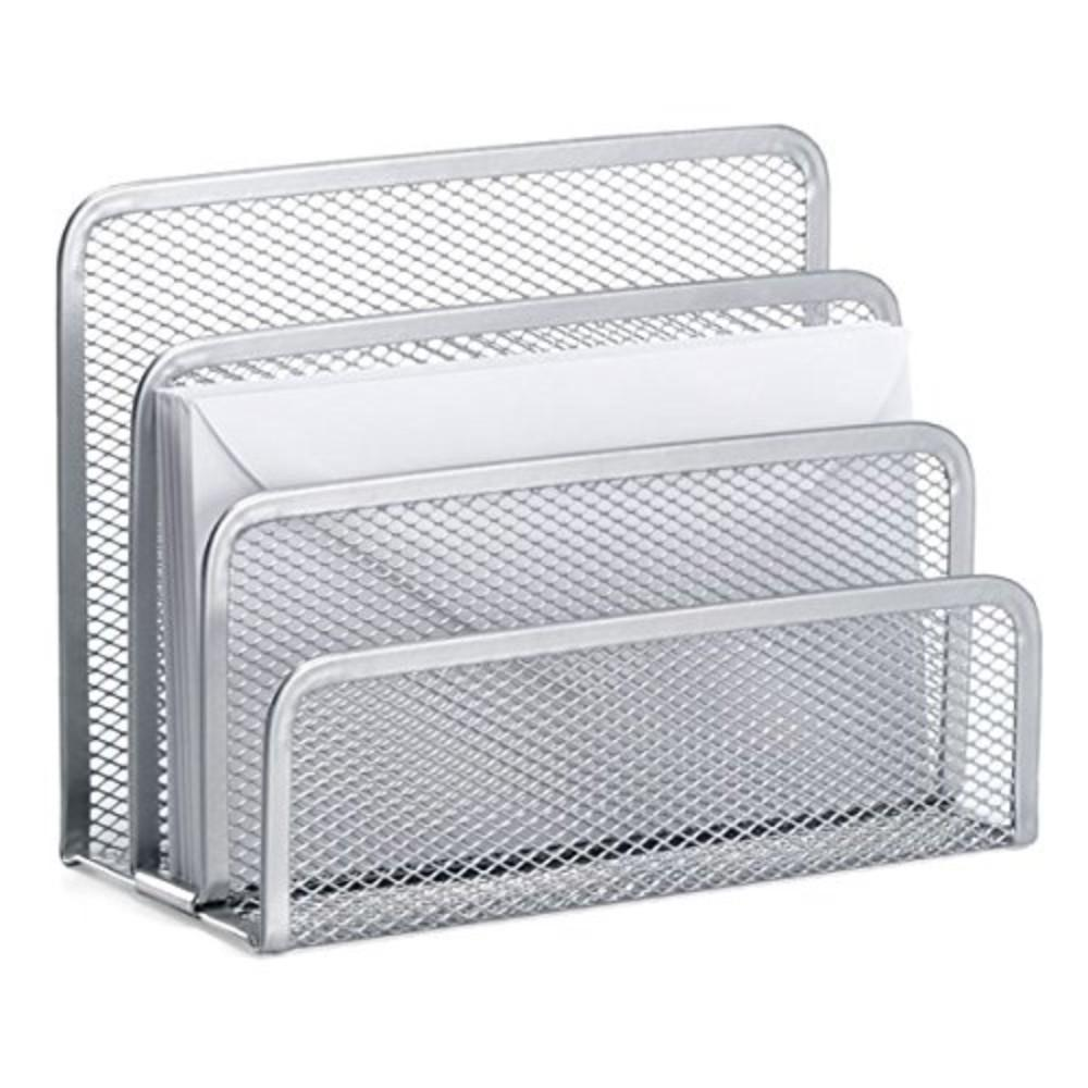 2 x Silver Mesh Letter Sorters