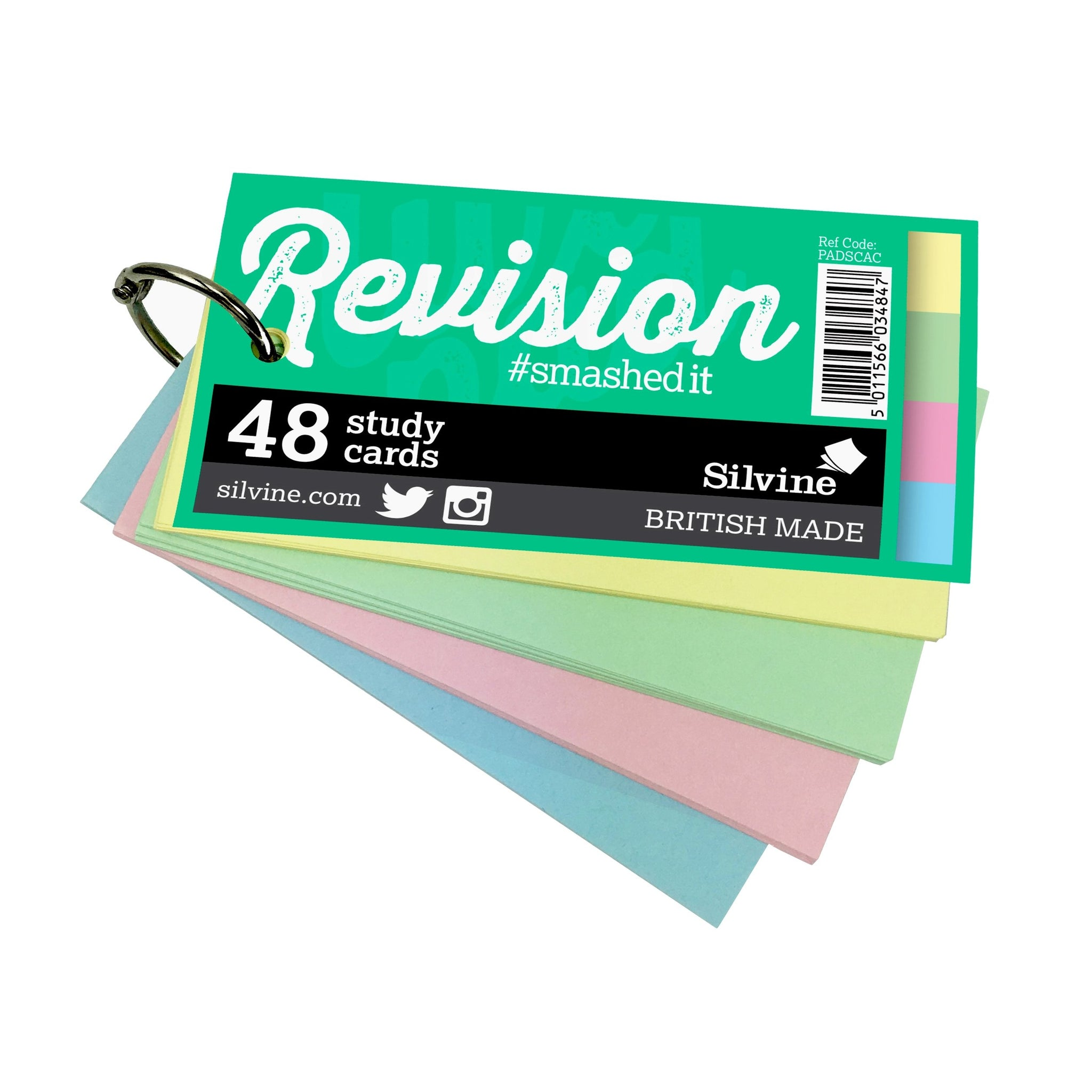 48 Mini Study Revision Cards on Keyring