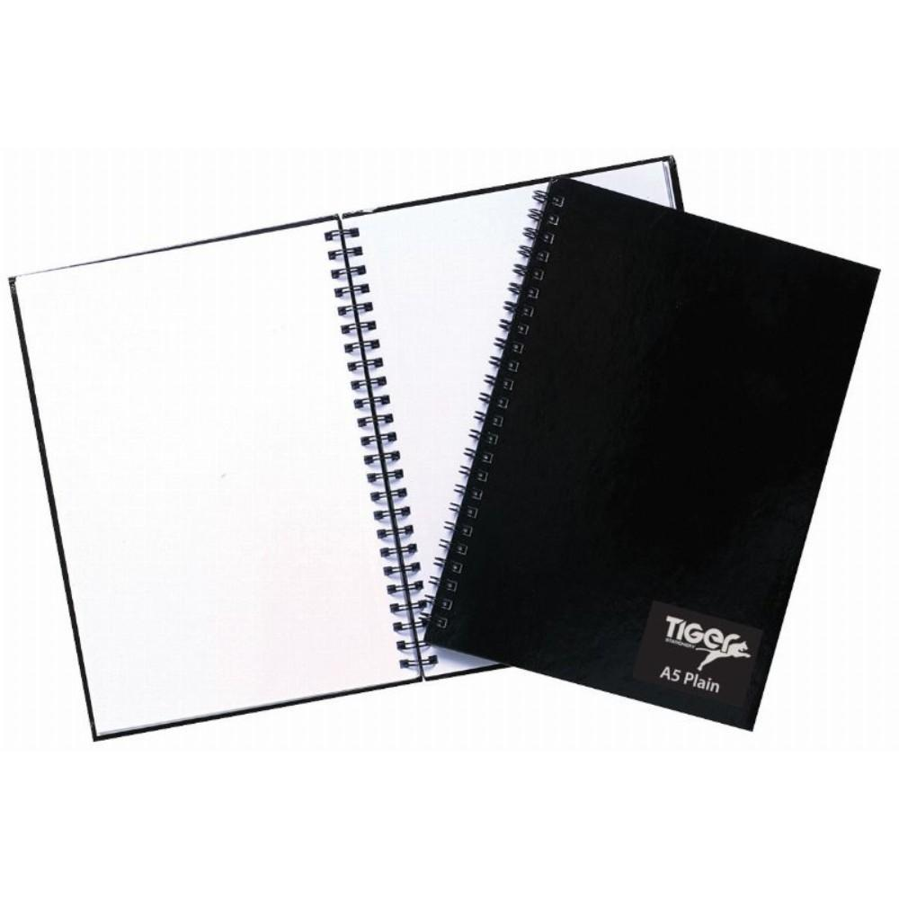 Pack of 5 TwinWire A5 60 Sheet Plain Notebook