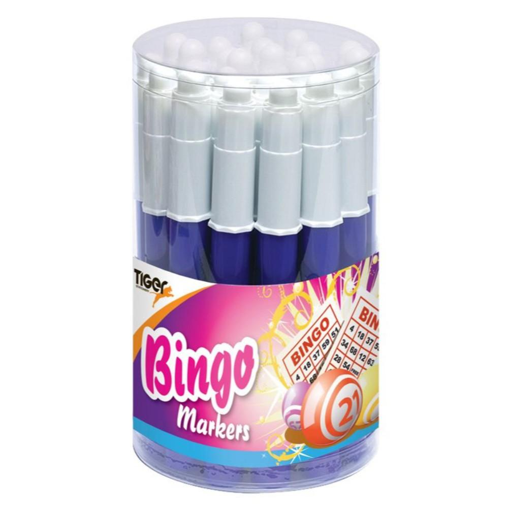 Pack of 24 Mercurio Blue Bingo Markers