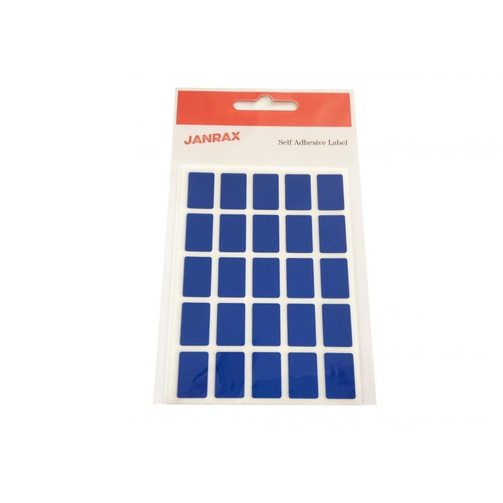 Pack of 125 Blue 12x18mm Rectangular Labels - Adhesive Stickers