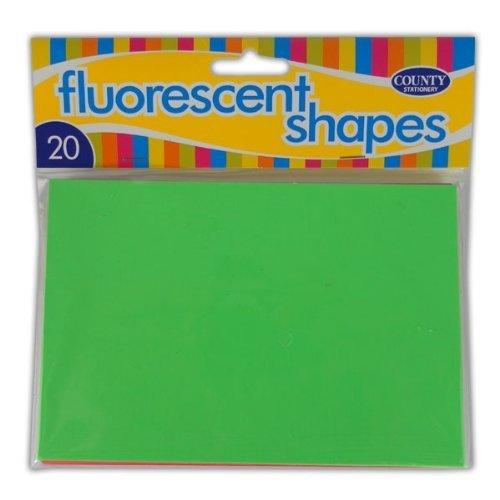 20 Fluorescent Blocks Shapes 102x152mm