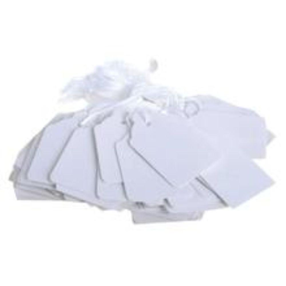 Box of 1000 White Merchandise Tags 73mm x 44mm