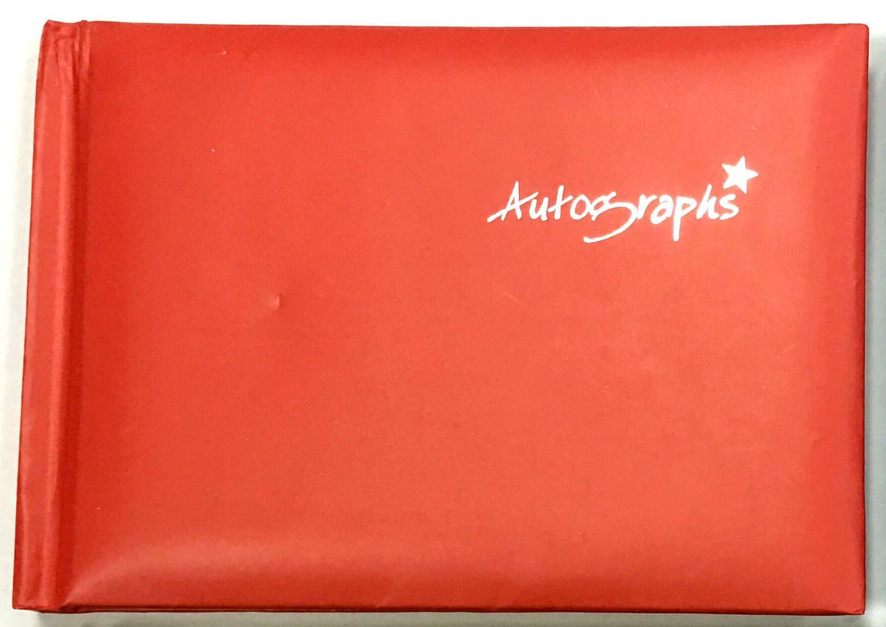 Red Autograph Book 100 pages - Signature End of Term School Leavers