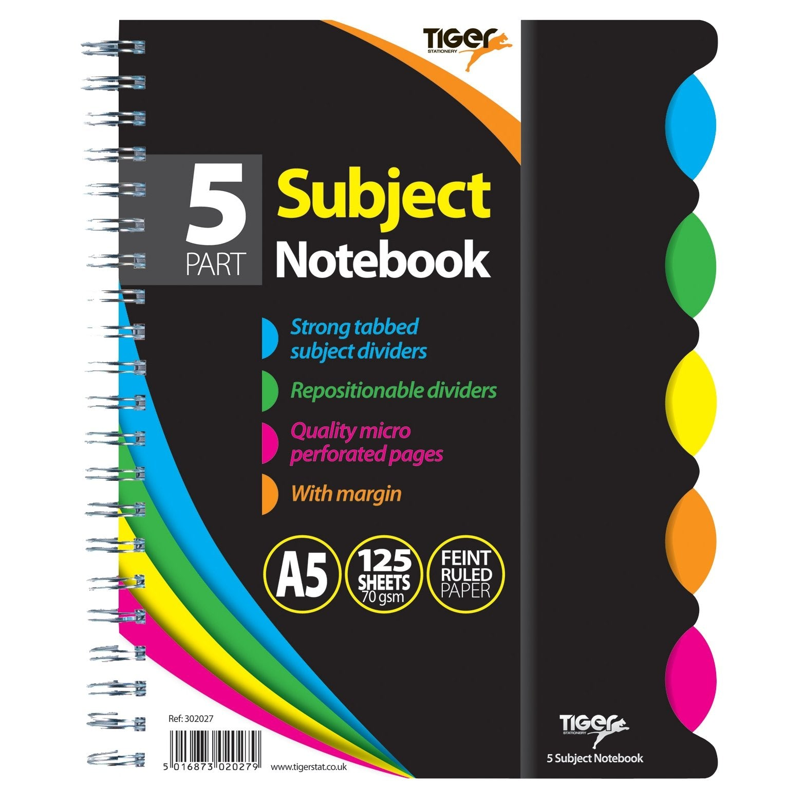 A5 5 Subject Twinwire Notebook