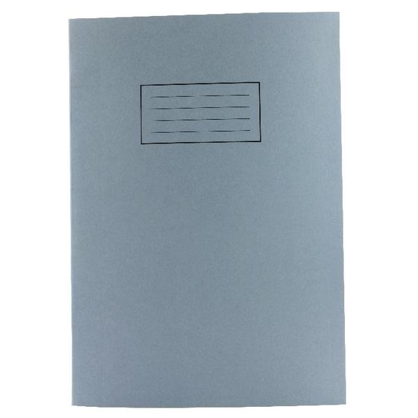 Pack of 100 A4 Blue Exercise Books 80 Plain Pages