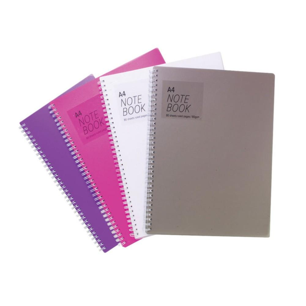 5 x A4 Twinwire Feint Ruled 80 Sheet Notebook