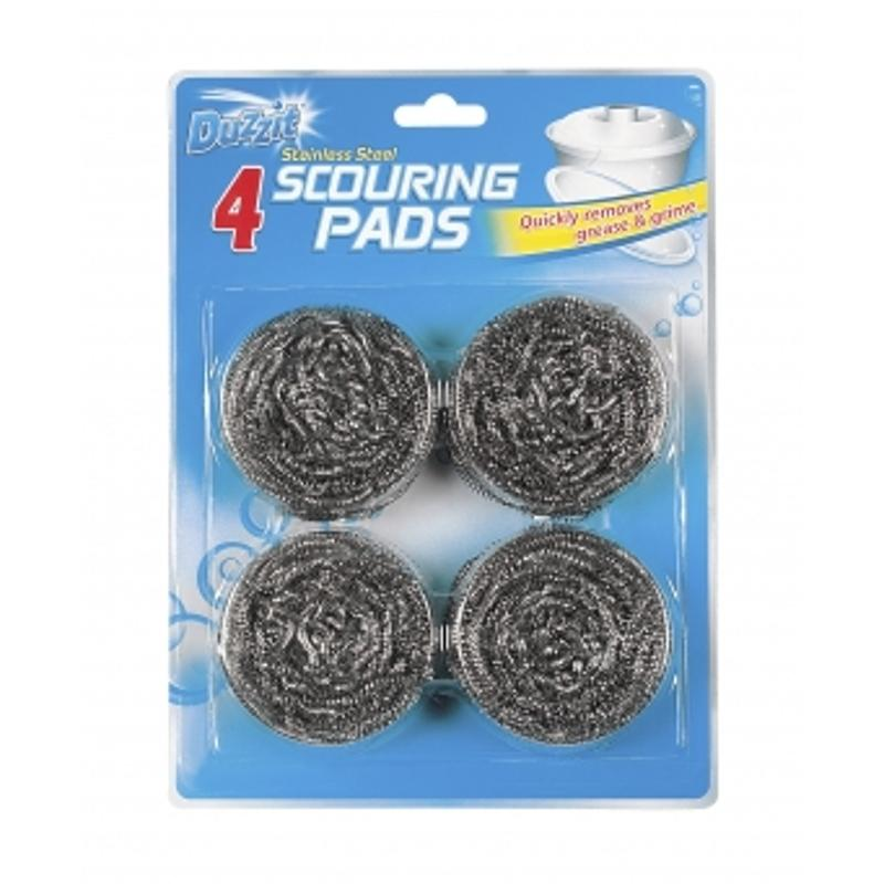 Pack of 4 Stainless Steel Scouring Pads