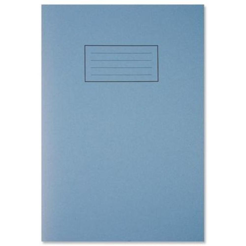 A4 Blue Exercise Book - Lined with Margin