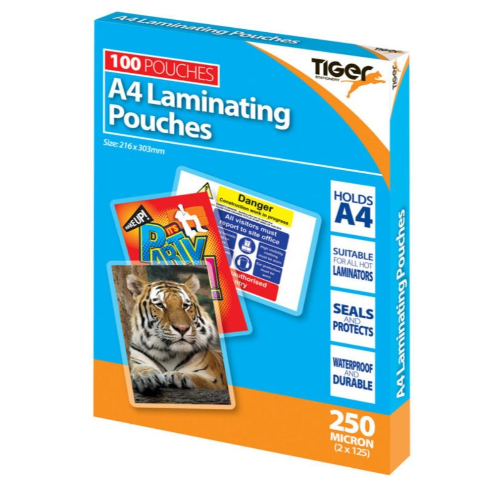 Box of 100 A4 250micron Laminating Pouches