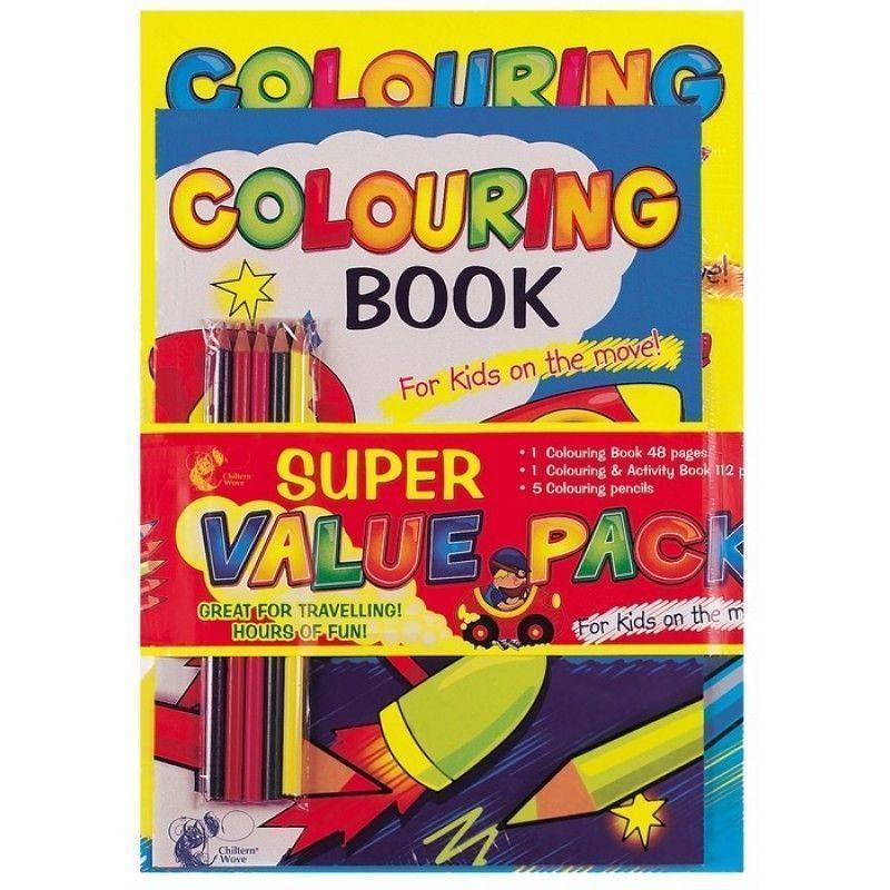 Super Value Pack Colouring Book
