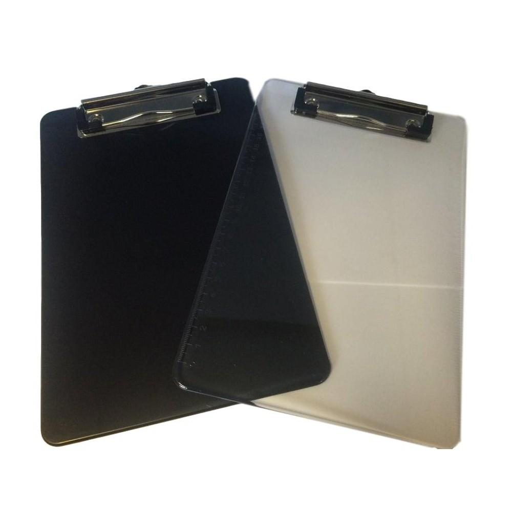 A5 Clear Plastic Clipboard With Rule