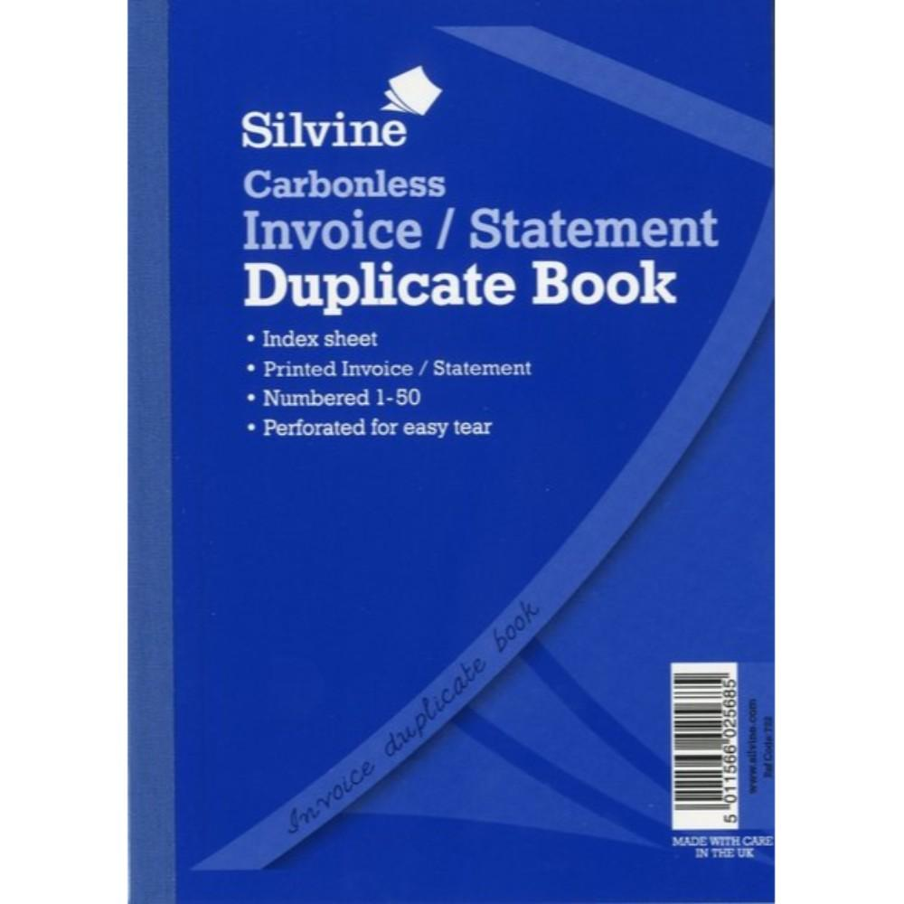 Carbonless Duplicate Invoice/Statement Book A5